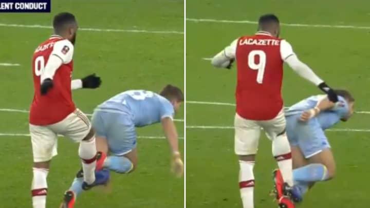 Fans Can't Understand Why Alexandre Lacazette Wasn't Sent Off Vs Leeds