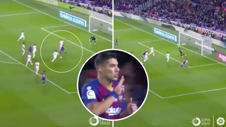 Luis Suarez Scored A Sensational Backheel Goal In Barcelona's Win Over RCD Mallorca