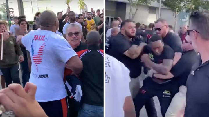 Shannon Briggs Involved In Fight Outside Staples Center After KSI And Logan Paul Weigh-In