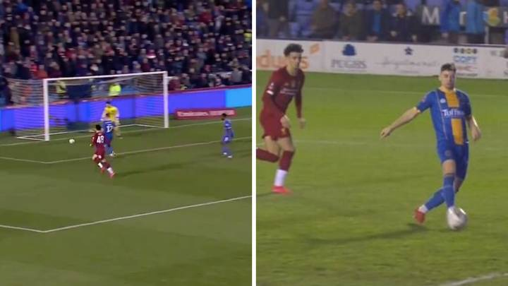 Donald Love Scores Bizarre Own Goal During Shrewsbury Vs. Liverpool