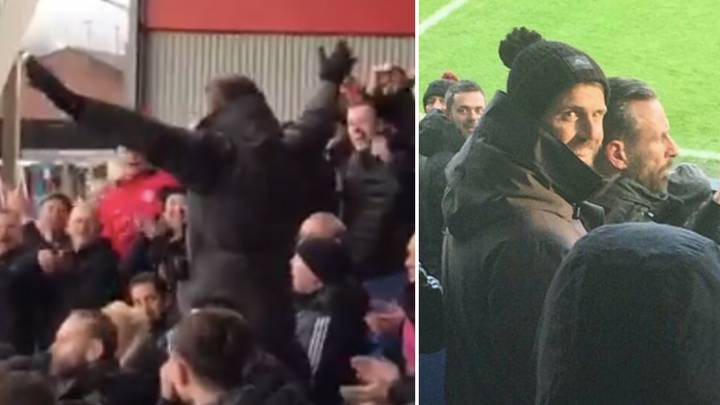 Michael Carrick Spotted Starting Man Utd Chants In The Away Stand vs Burnley
