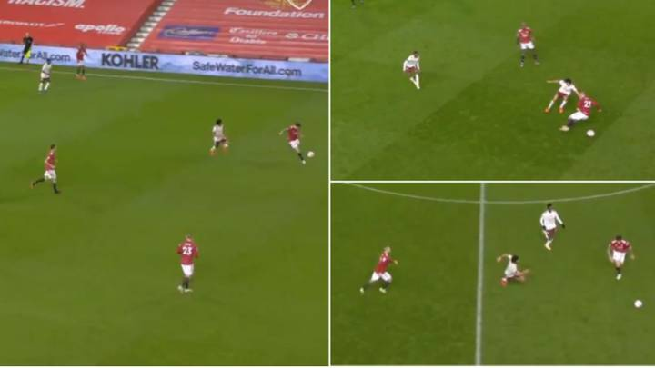 Footage Of Mohamed Elneny's Incredible Work-Rate In The 91st Minute Against Manchester United
