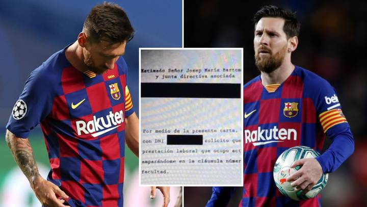The Transfer Request Lionel Messi Sent To Barcelona Has Been 'Leaked'  Online - SPORTbible