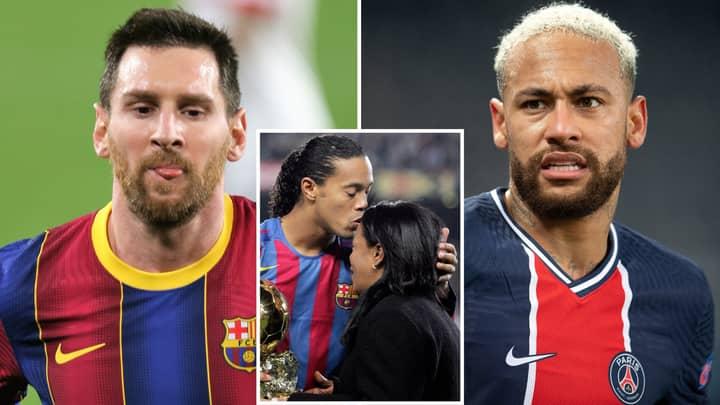 Lionel Messi And Neymar Both Send Heartfelt Tributes To Ronaldinho After Mother's Death