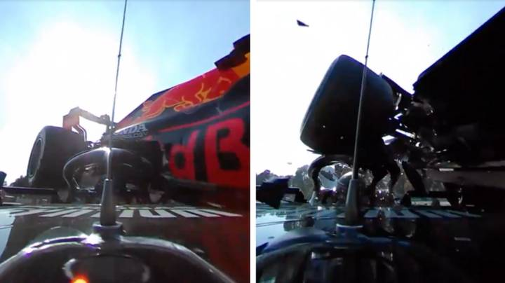 Scary Newly-Released Dash-Cam Footage Shows Just How Close F1 Car Wheel Came To Lewis Hamilton
