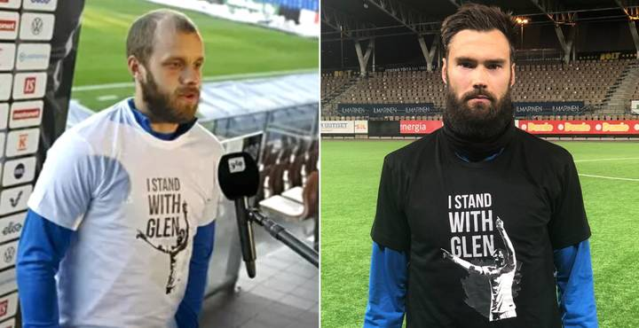 Finland Players All Wear 'I Stand With Glen' T-Shirts In Support Of Rangers' Glen Kamara