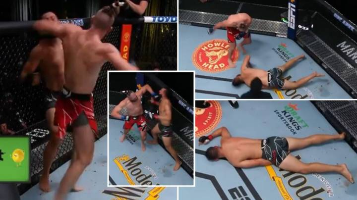 Jiri Prochazka Knocks Out Dominick Reyes In Brutal Fashion With Vicious Spinning Elbow At UFC Vegas 25