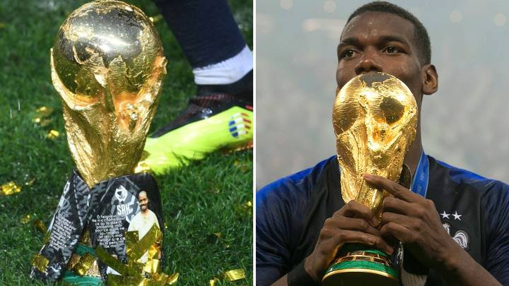 Paul Pogba's Shin Pads At World Cup Final Had A Tribute Message To His Father