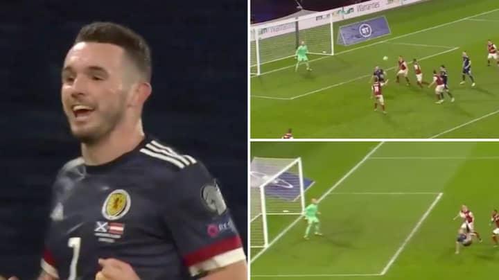 Scotland Midfielder John McGinn Equalises With Wonderful Overhead-Kick Against Austria