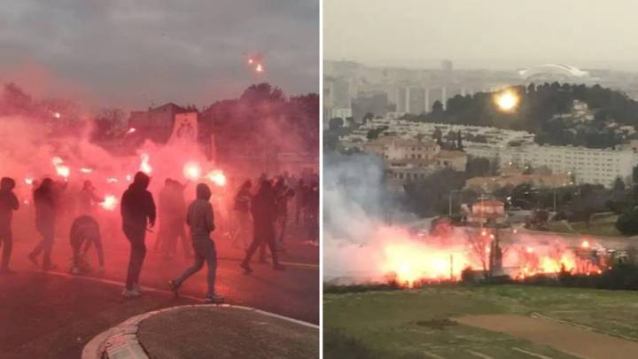 'Serious Incident' Declared At Marseille's Training Ground As Fans Break In And Set Off Fireworks