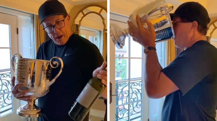 Phil Mickelson Sculls Red Wine Out Of The PGA Championship Trophy