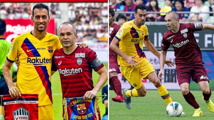 Andres Iniesta Played Against FC Barcelona Today And It Was Really Weird