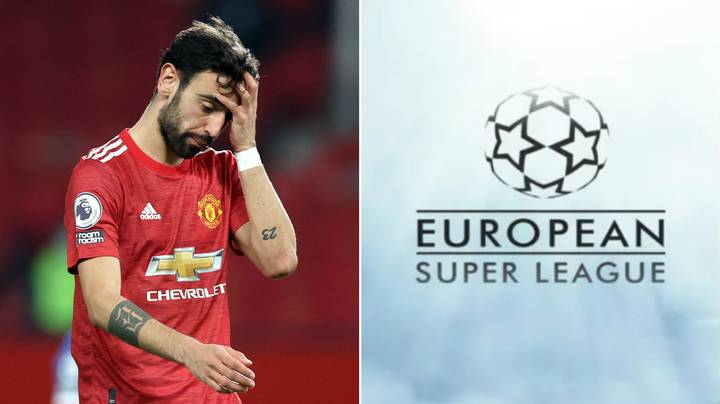 Bruno Fernandes Becomes First Manchester United Player To Speak Out Against European Super League