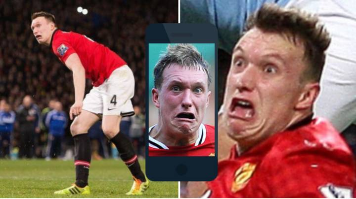 Phil Jones' Mates Send Him Pictures Of His Face On WhatsApp