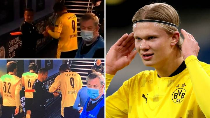 Romanian Linesman's Incredible Reason For Why He Requested Erling Haaland's Autograph