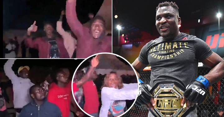 Amazing Scenes As Francis Ngannou's Hometown Reacts To Him Becoming UFC Heavyweight Champion