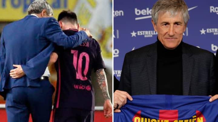 What New Barcelona Manager Quique Setien Told Lionel Messi When He Met Him