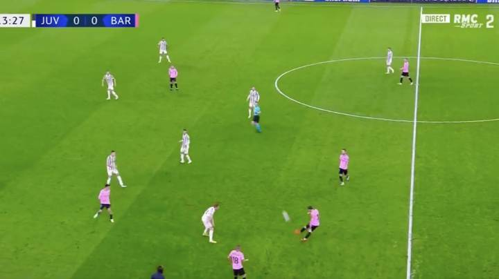 Lionel Messi Produces Outrageous Crossfield Assist For Ousmane Dembele Against Juventus