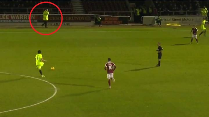 The Awkward Moment A Peterborough Player Mistakenly Passed To A Steward