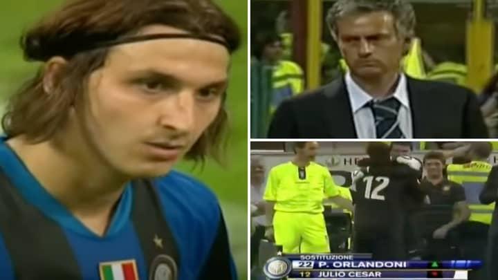 Rare Footage Of Jose Mourinho Substituting His Goalkeeper Before Zlatan Ibrahimovic Is Peak Sh*thousery