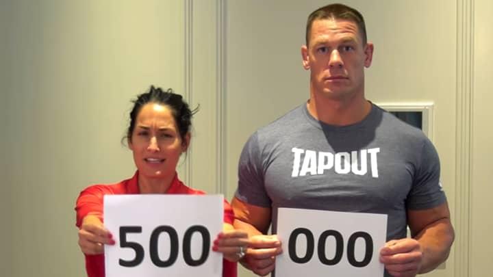 John Cena And Nikki Bella Strip Off To Celebrate Getting Half A Million Followers