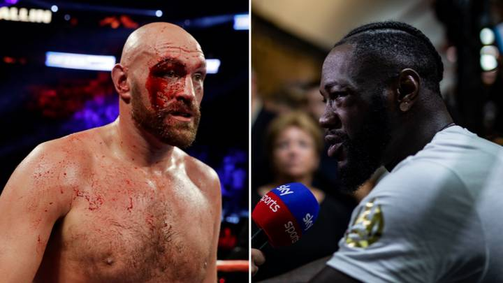 Deontay Wilder Reacts To Tyson Fury's Nasty Cut Sustained In Otto Wallin Fight