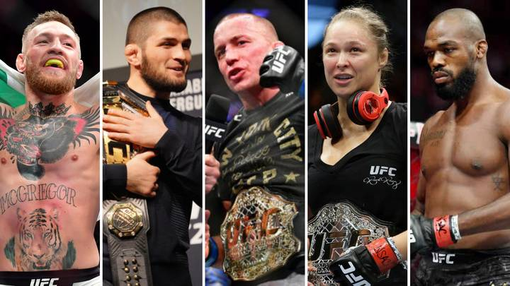 MMA's 50 Greatest Fighters Of All Time Have Been Named And Ranked