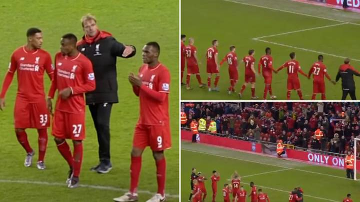The Story Behind Liverpool Celebrating A Draw Against West Brom At Anfield In 2015