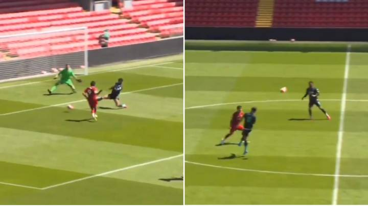 Liverpool Senior Players Take Part In Training Match At Anfield Ahead Of Premier League Restart