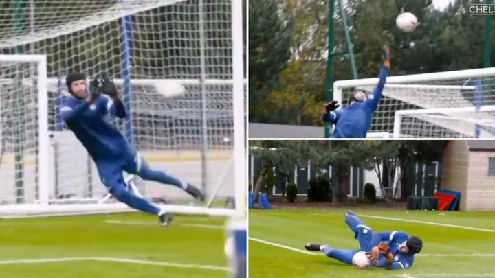 Incredible Footage Of 38-Year-Old Petr Cech In Chelsea Training Proves He's Still Got It