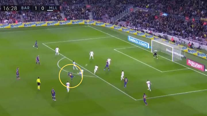 Lionel Messi Scores Incredible Goal From Outside The Box For Barcelona