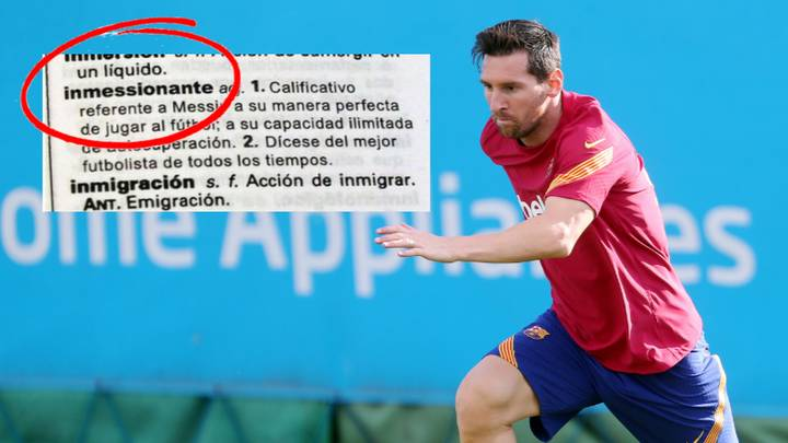 Lionel Messi Is Actually A Word In The Spanish Dictionary
