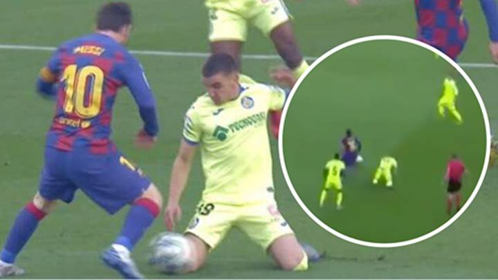 Lionel Messi Puts Getafe Player On His Knees With Sublime Skill