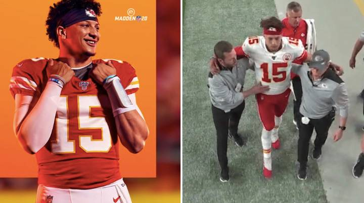Patrick Mahomes Injury Has NFL Fans Fearing 'Madden Curse' Has Struck Again