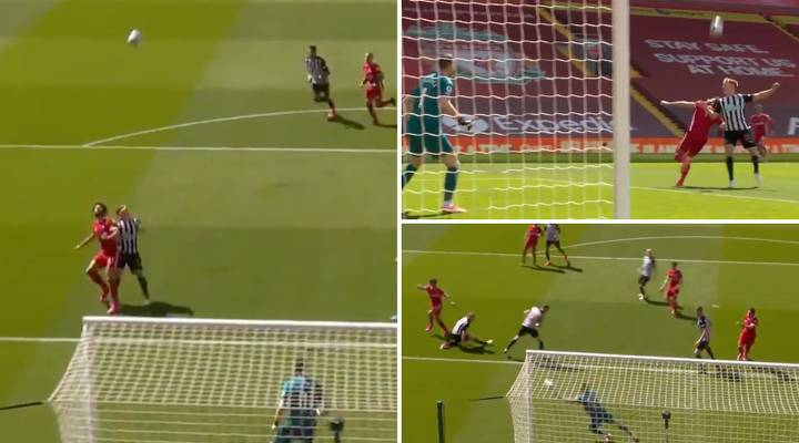 Mohamed Salah Produces Incredible First Touch, Turn And Shot Vs Newcastle