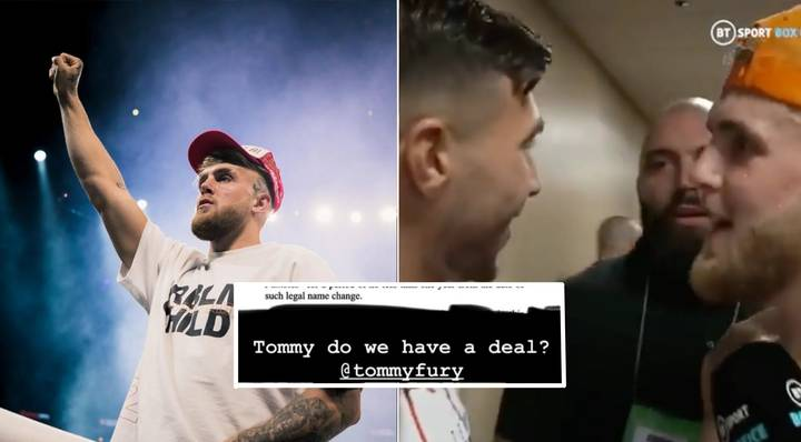 Jake Paul Has Drawn Up A Contract For Tommy Fury Fight, Includes 'Tommy Fumbles' Name Change Bet