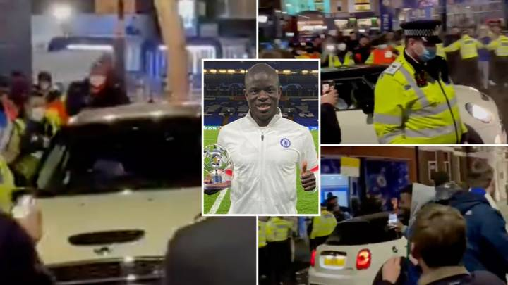 N'Golo Kante Helps Chelsea Reach The Champions League Final, Leaves Stamford Bridge In A Mini Cooper
