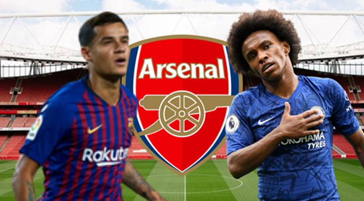 Arsenal Close To Deals For Philippe Coutinho And Willian - Despite Announcing 55 Redundancies