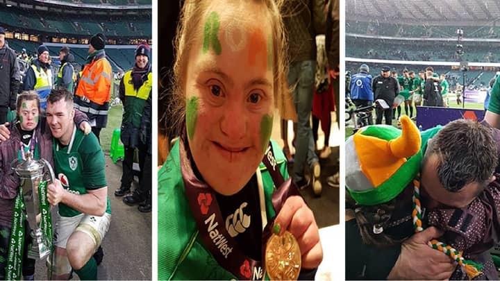 Irish Hero Peter O'Mahony Gives Six Nations Medal To Superfan Jennifer Malone
