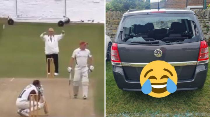 Sunday League Batsman Hits Six And Smashes His Own Windscreen