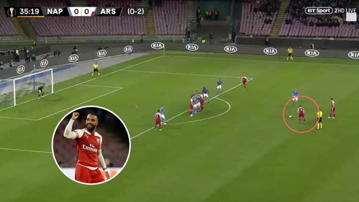 Alexandre Lacazette Scores Stunning 30-Yard Free-Kick For Arsenal Against Napoli