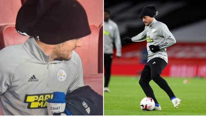 Jamie Vardy Has 'Chat Sh*t Get Banged' Written On His Shinpads
