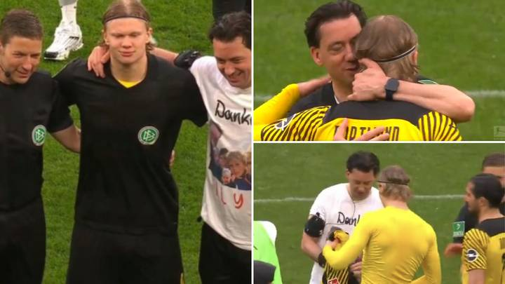 Referee Manuel Grafe Swapped Shirts With Erling Haaland After His Final Bundesliga Game