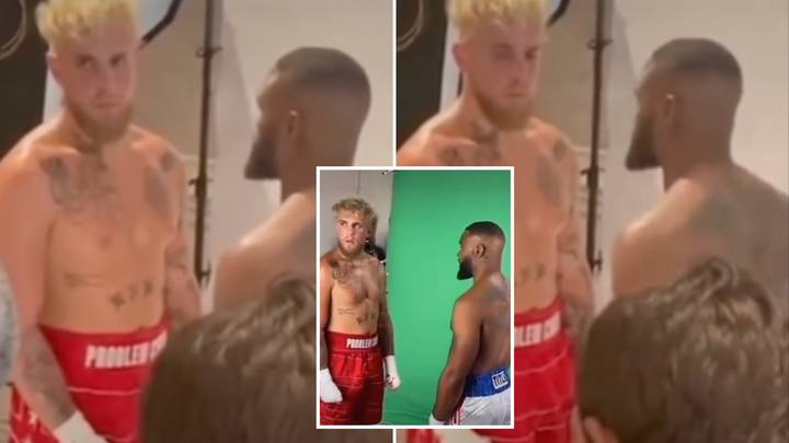 Damning Footage Shows Jake Paul 'Too Scared' To Look In Tyron Woodley's Eyes At Pre-Fight Photoshoot
