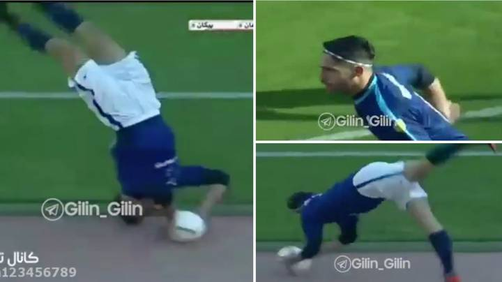 Footage Emerges Of Nader Mohammadi Launching A Whopping 55-Yard Somersault Throw-In For Iranian Club Paykan