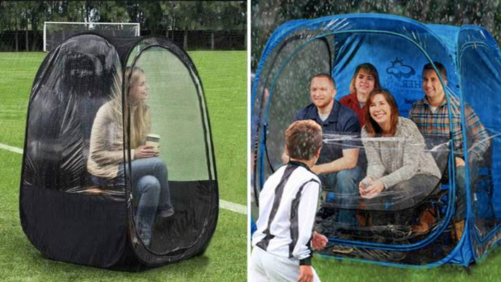 'Sports Pods' Are The Perfect Solution To Avoiding Sun Or Rain During Sporting Events