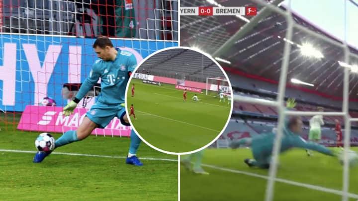 Manuel Neuer Pulls Off Sublime Double Save For Bayern Munich Against Werder Bremen