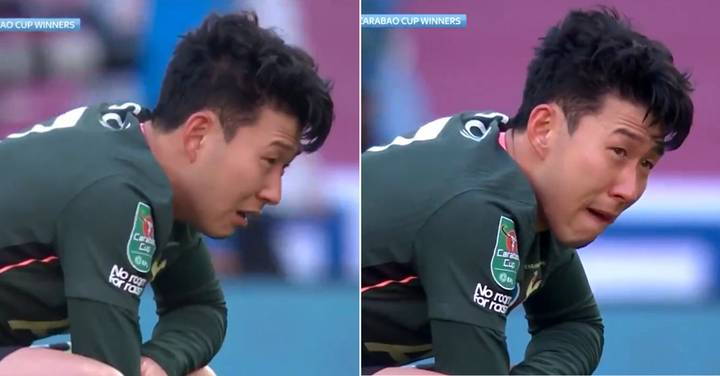 Son Heung-Min In Tears After Tottenham Lose Carabao Cup Final To Manchester City