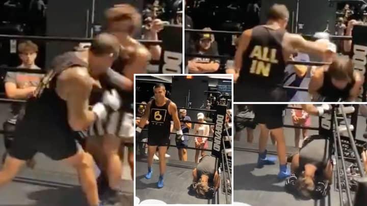 UFC Legend Vitor Belfort Destroys TikTok Star With Devastating Body Shot, Floors Him TWICE In Sparring