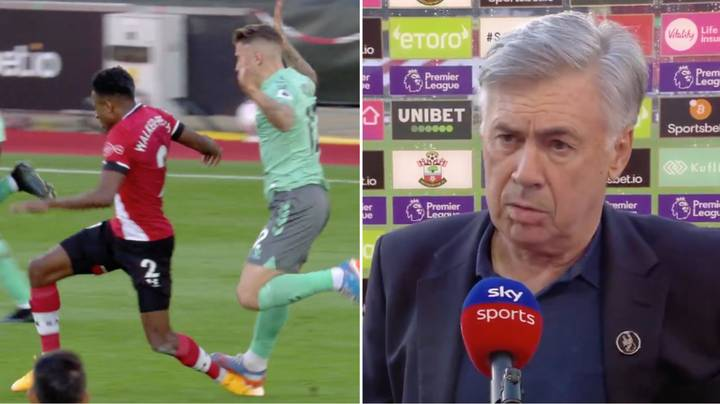 Carlo Ancelotti Says Richarlison And Jordan Pickford Incidents Might Have Played A Part In Lucas Digne's Red Card